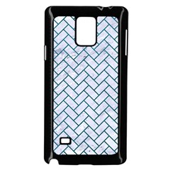 Brick2 White Marble & Teal Leather (r) Samsung Galaxy Note 4 Case (black)