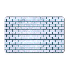 Brick1 White Marble & Teal Leather (r) Magnet (rectangular) by trendistuff