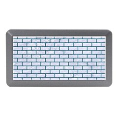 Brick1 White Marble & Teal Leather (r) Memory Card Reader (mini) by trendistuff