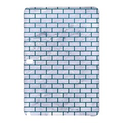 Brick1 White Marble & Teal Leather (r) Samsung Galaxy Tab Pro 12 2 Hardshell Case