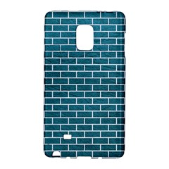 Brick1 White Marble & Teal Leather Galaxy Note Edge by trendistuff