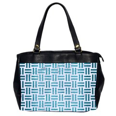 Woven1 White Marble & Teal Brushed Metal (r) Office Handbags (2 Sides)  by trendistuff