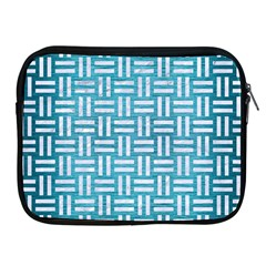 Woven1 White Marble & Teal Brushed Metal Apple Ipad 2/3/4 Zipper Cases by trendistuff