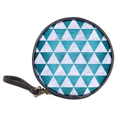 Triangle3 White Marble & Teal Brushed Metal Classic 20 Cd Wallets by trendistuff