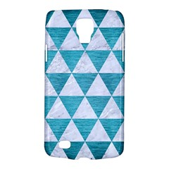 Triangle3 White Marble & Teal Brushed Metal Galaxy S4 Active by trendistuff