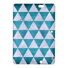 Triangle3 White Marble & Teal Brushed Metal Kindle Fire Hdx 8 9  Hardshell Case by trendistuff