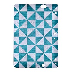 Triangle1 White Marble & Teal Brushed Metal Kindle Fire Hdx 8 9  Hardshell Case by trendistuff