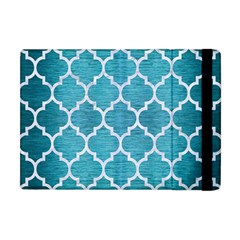 Tile1 White Marble & Teal Brushed Metal Apple Ipad Mini Flip Case by trendistuff