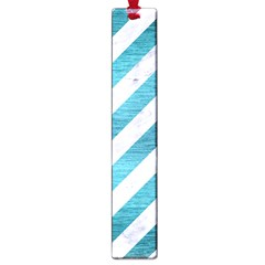 Stripes3 White Marble & Teal Brushed Metal (r) Large Book Marks by trendistuff