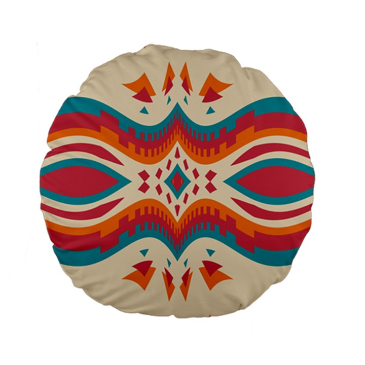 Symmetric distorted shapes                        Standard 15  Premium Flano Round Cushion
