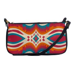 Symmetric Distorted Shapes                              Shoulder Clutch Bag by LalyLauraFLM