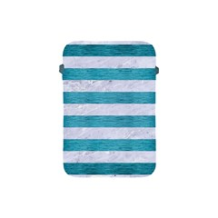 Stripes2white Marble & Teal Brushed Metal Apple Ipad Mini Protective Soft Cases by trendistuff