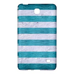Stripes2white Marble & Teal Brushed Metal Samsung Galaxy Tab 4 (8 ) Hardshell Case  by trendistuff