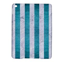 Stripes1 White Marble & Teal Brushed Metal Ipad Air 2 Hardshell Cases by trendistuff