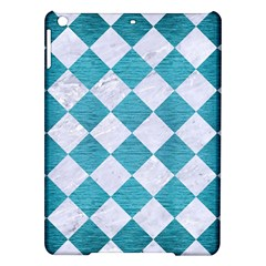 Square2 White Marble & Teal Brushed Metal Ipad Air Hardshell Cases by trendistuff