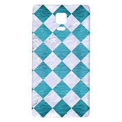 Square2 White Marble & Teal Brushed Metal Galaxy Note 4 Back Case by trendistuff