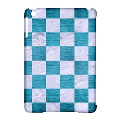 Square1 White Marble & Teal Brushed Metal Apple Ipad Mini Hardshell Case (compatible With Smart Cover) by trendistuff