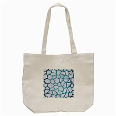 Skin1 White Marble & Teal Brushed Metal Tote Bag (cream) by trendistuff