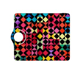 Colorful Rhombus And Triangles                          Kindle Fire Hdx Flip 360 Case by LalyLauraFLM