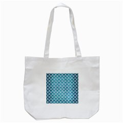 Scales3 White Marble & Teal Brushed Metal Tote Bag (white) by trendistuff