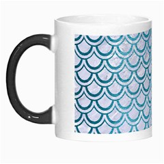 Scales2 White Marble & Teal Brushed Metal (r) Morph Mugs by trendistuff