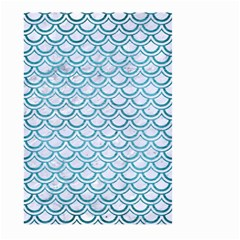 Scales2 White Marble & Teal Brushed Metal (r) Large Garden Flag (two Sides) by trendistuff