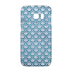 Scales2 White Marble & Teal Brushed Metal (r) Galaxy S6 Edge by trendistuff