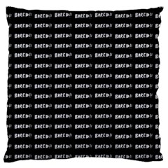 Bored Comic Style Word Pattern Standard Flano Cushion Case (one Side)
