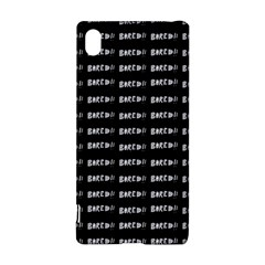 Bored Comic Style Word Pattern Sony Xperia Z3+ by dflcprints