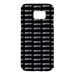 Bored Comic Style Word Pattern Samsung Galaxy S7 Edge Hardshell Case by dflcprints