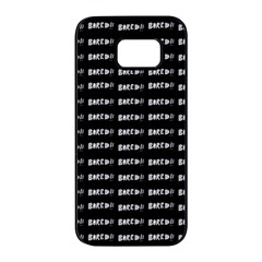 Bored Comic Style Word Pattern Samsung Galaxy S7 Edge Black Seamless Case by dflcprints