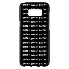 Bored Comic Style Word Pattern Samsung Galaxy S8 Plus Black Seamless Case by dflcprints