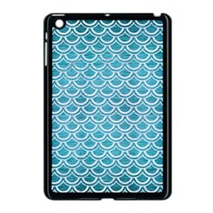 Scales2 White Marble & Teal Brushed Metal Apple Ipad Mini Case (black) by trendistuff