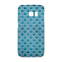 Scales2 White Marble & Teal Brushed Metal Galaxy S6 Edge by trendistuff