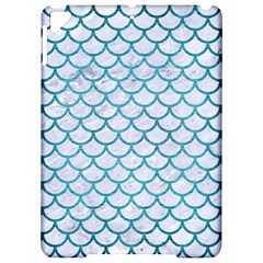 Scales1 White Marble & Teal Brushed Metal (r) Apple Ipad Pro 9 7   Hardshell Case by trendistuff