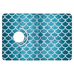 Scales1 White Marble & Teal Brushed Metal Kindle Fire Hdx Flip 360 Case by trendistuff