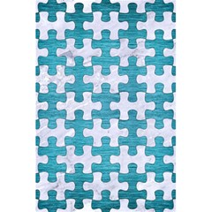 Puzzle1 White Marble & Teal Brushed Metal 5 5  X 8 5  Notebooks by trendistuff