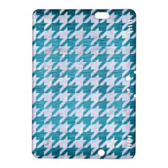 Houndstooth1 White Marble & Teal Brushed Metal Kindle Fire Hdx 8 9  Hardshell Case by trendistuff