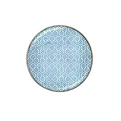 Hexagon1 White Marble & Teal Brushed Metal (r) Hat Clip Ball Marker (10 Pack) by trendistuff