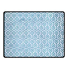 Hexagon1 White Marble & Teal Brushed Metal (r) Double Sided Fleece Blanket (small)  by trendistuff