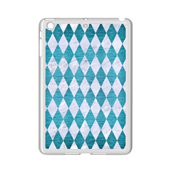 Diamond1 White Marble & Teal Brushed Metal Ipad Mini 2 Enamel Coated Cases by trendistuff