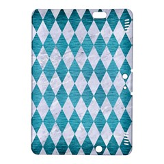 Diamond1 White Marble & Teal Brushed Metal Kindle Fire Hdx 8 9  Hardshell Case by trendistuff