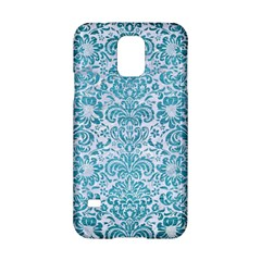 Damask2 White Marble & Teal Brushed Metal (r) Samsung Galaxy S5 Hardshell Case  by trendistuff