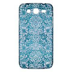 Damask2 White Marble & Teal Brushed Metal Samsung Galaxy Mega 5 8 I9152 Hardshell Case  by trendistuff