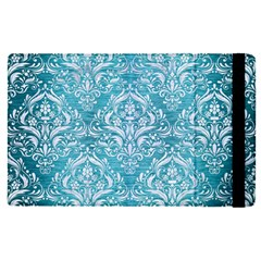 Damask1 White Marble & Teal Brushed Metal Apple Ipad Pro 9 7   Flip Case by trendistuff