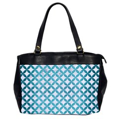 Circles3 White Marble & Teal Brushed Metal (r) Office Handbags (2 Sides)  by trendistuff