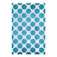 Circles2 White Marble & Teal Brushed Metal (r) Shower Curtain 48  X 72  (small)  by trendistuff