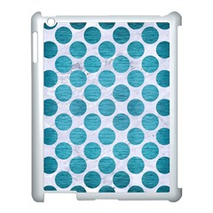 Circles2 White Marble & Teal Brushed Metal (r) Apple Ipad 3/4 Case (white) by trendistuff