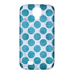 Circles2 White Marble & Teal Brushed Metal (r) Samsung Galaxy S4 Classic Hardshell Case (pc+silicone) by trendistuff