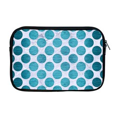 Circles2 White Marble & Teal Brushed Metal (r) Apple Macbook Pro 17  Zipper Case by trendistuff